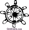 Captain's Wheel Vector Clip Art image