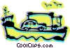 Vector Clipart picture  of a Ferry Boats