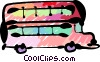 Vector Clip Art image  of a Double-Decker Buses