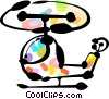 Helicopters Vector Clipart graphic