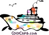 Vector Clipart image  of a Cruise Ships and Ocean Liners