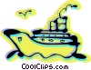 Vector Clipart graphic  of a Cruise Ships and Ocean Liners
