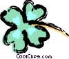 Vector Clip Art image  of a Shamrocks