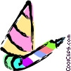 party hat and noise maker Vector Clipart graphic