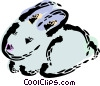 Vector Clip Art image  of a Rabbits