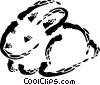 Rabbits Vector Clip Art picture