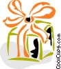 Vector Clip Art graphic  of a Birthday Presents Gifts