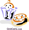 Muffins Vector Clip Art graphic