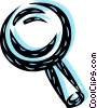 Vector Clip Art graphic  of a Magnifying Glasses
