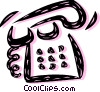 Home Phones Vector Clip Art graphic