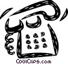 Vector Clipart image  of a Home Phones