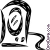 Vector Clip Art image  of a Speakers