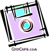 Vector Clip Art image  of a Diskettes Floppy Disks