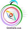 Vector Clip Art graphic  of a Compass