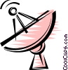 Satellite Dish Vector Clipart illustration