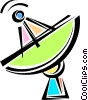 Vector Clip Art graphic  of a Satellite Dish
