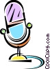 Vector Clipart graphic  of a Microphones