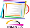 Vector Clipart illustration  of a Monitors