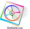 Vector Clip Art image  of a CD-ROM Media