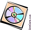Vector Clipart graphic  of a CD-ROM Media