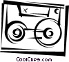 Vector Clipart picture  of a Cassette Tapes