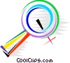 Magnifying Glasses Vector Clipart picture