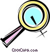 Vector Clipart graphic  of a Magnifying Glasses
