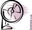 Electric Fan Vector Clipart illustration