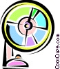 Vector Clip Art graphic  of a Electric Fan