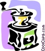 Vector Clip Art graphic  of a Coffee Grinders