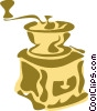 Vector Clipart graphic  of a Coffee Grinders