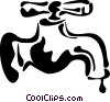 Vector Clipart image  of a Faucets