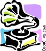 Vector Clip Art image  of a Phonograph Gramophone Record