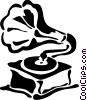 Phonograph Gramophone Record Player Vector Clip Art picture