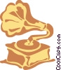 Vector Clip Art graphic  of a Phonograph Gramophone Record