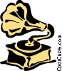Vector Clipart graphic  of a Phonograph Gramophone Record