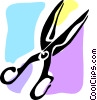 Scissors Vector Clip Art graphic