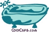 Vector Clip Art picture  of a Bathtubs