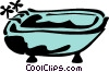 Bathtubs Vector Clip Art graphic