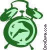 Alarm Clocks Vector Clip Art graphic