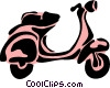 Vector Clip Art graphic  of a Scooters