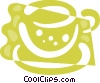 Teacups Vector Clipart picture