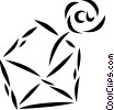 Vector Clip Art image  of a E-mail