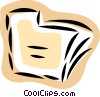 Vector Clip Art image  of a File Folders