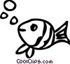 Vector Clip Art image  of a Various Fish