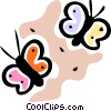 Vector Clip Art graphic  of a Butterflies