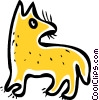 Vector Clip Art picture  of a Misc Dogs