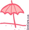 Umbrellas Vector Clipart graphic