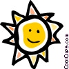 Vector Clipart image  of a The Sun