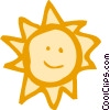 The Sun Vector Clipart graphic